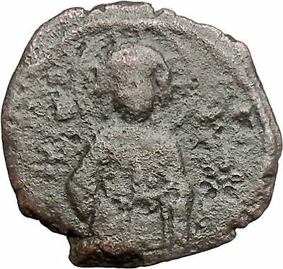 JESUS CHRIST Ancient Christian Byzantine Nicephorus III Follis1078AD Coin i48623