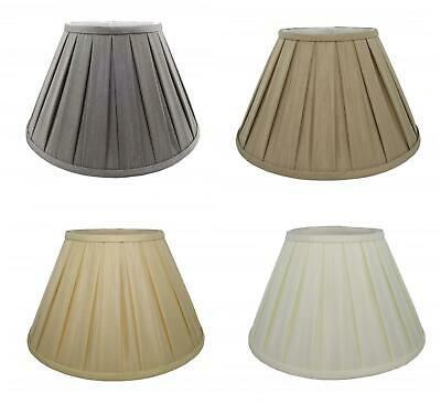 6'' to 20'' Fabric Box Pleat Lamp Shade Table Light Lampshade Mink Cream Ivory