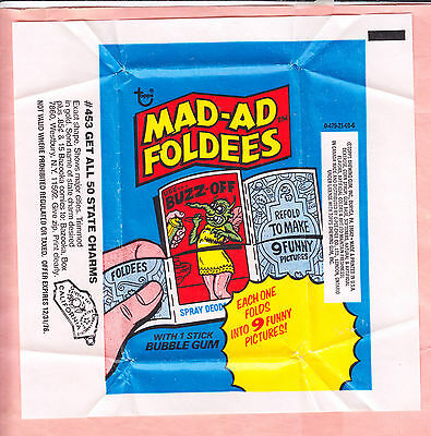 1976  TOPPS  MAD-AD FOLDEES  WAX WRAPPER  NM