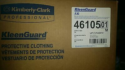 Kimberly-Clark Kleenguard A30 2X-Large Elastic-Back Coveralls in White W ZIPPER