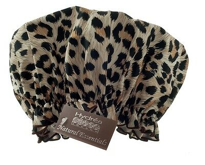 ECO-FRIENDLY PEVA SHOWER CAP - Leopard Print - Hair Care & Treatment - Hydrea