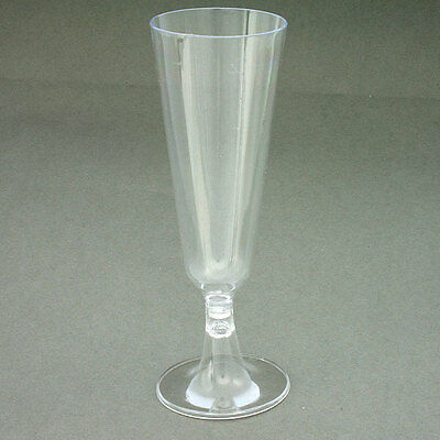 8 24 48 Disposable Plastic Champagne Flutes Wine Glasses Disposable Party Glass