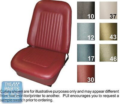 1968 Camaro Standard Black Front Buckets Seat Covers & Folddown Rear - PUI