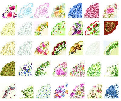 Rondo Round Fluted Japon paper Napkins Serviettes many designs to chose from 12