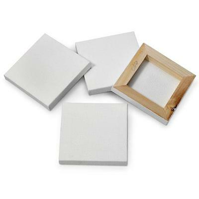 4 x 7cm Mini Artist Stretched Canvas Square Small Art Board Acrylic Oil Paint