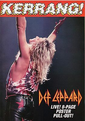 Def Leppard live 1993 8 pages magazine poster pull-out from England