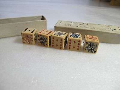 """Vintage Trade-""""CELLULOID"""" -Mark 1 Set of DICE 21/32 Inch, New Jersey"""