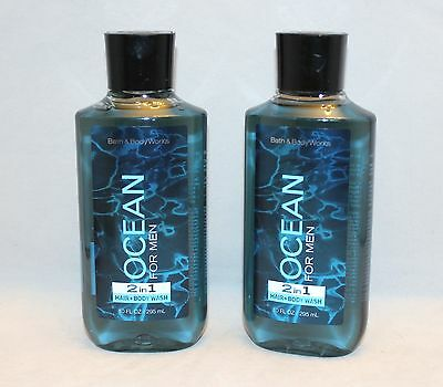 Bath & Body Works Ocean for Men 2 in 1 Hair & Body Wash Shower Gel X 2