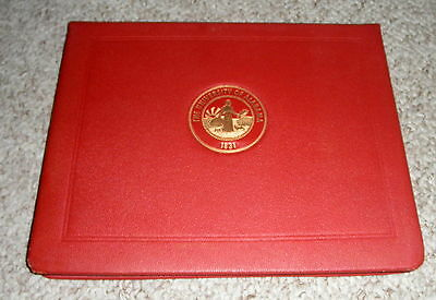 UNIVERSITY OF ALABAMA 1831 DIPLOMA COVER & 1965 ENGINEERING DEGREE INSIDE