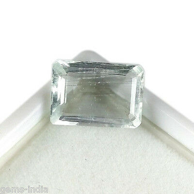 5.00 Cts Certified AAA Top Class Untreated Natural Aquamarine Octagon Cut Gem~