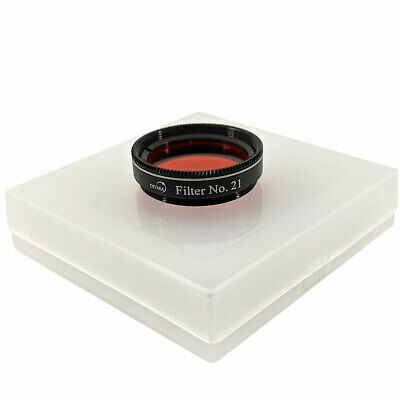 "OSTARA ORANGE #21 Filter 1.25"" Fitting High Quality Stackable"