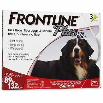 Frontline Plus for Dogs 89132 lbs  RED 3 MONTH