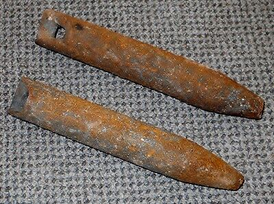 2 Antique 3 lb Window Sash Cast Iron Weights Vintage Authentic OLD Hardware L@@K