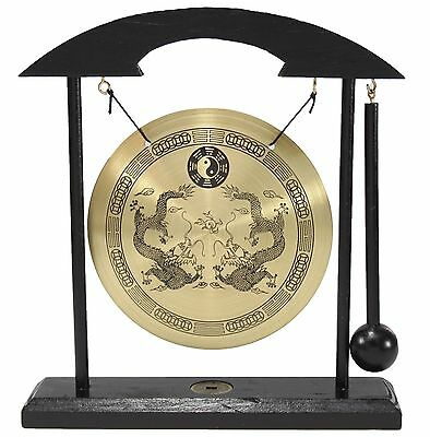 Zen Table Gong Dragon Feng Shui Meditation Desk Bell Home Decor Gift