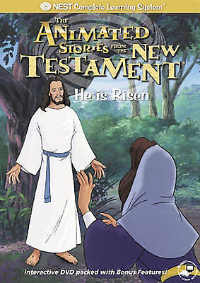 The Animated Stories From The New Testament - He is Risen, Good DVD, Jesus, Rich