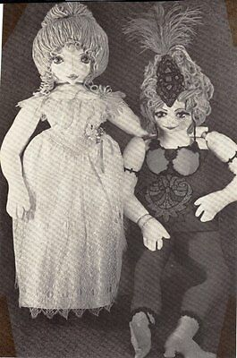 """Vintage Pattern  for 26"""" French Boudoir  rag doll cloth Victorian"""