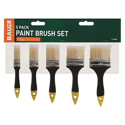 "5 Pack 1"" - 3"" Paint Brush Set Painting Home Decorating Gloss Emulsion Undercoat"