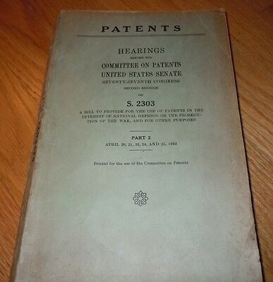1942 Book HEARINGS - COMMITTEE ON PATENTS US SENATE , Part 2