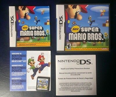 New Super Mario Bros. Brothers Nintendo DS Lite DSi XL 3DS Complete - Used VG