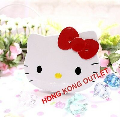 Hello Kitty Cosmetic Pocket Mirror with Hair Comb Set  Sanrio Red Ribbon   F14c