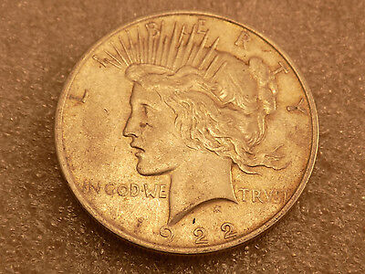 1922 $1 PEACE SILVER DOLLAR  - FAST SHIPPING -