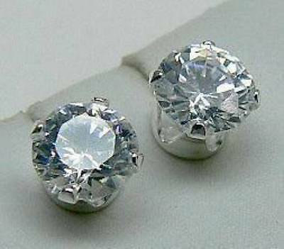 White Topaz Stud Earrings 925 Coven Witch Estate Good Karma & Healing Amulet