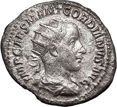 GORDIAN III 238AD Authentic Original Ancient Silver Roman Coin Jupiter i48759