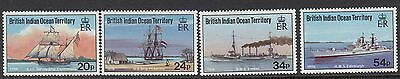 BRITISH INDIAN OCEAN TERRITORY :1992 Visiting Aircraft set SG124-7 unhinged mint