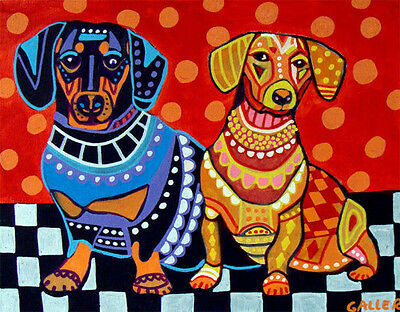 Dachshund Art Dog Doxie Dogs Poster PRINT Painting Poster Pop ART Weiner Dogs