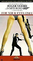 Bond: For Your Eyes Only [VHS] Roger Moore, Carole Bouquet, Topol, Lynn-Holly J