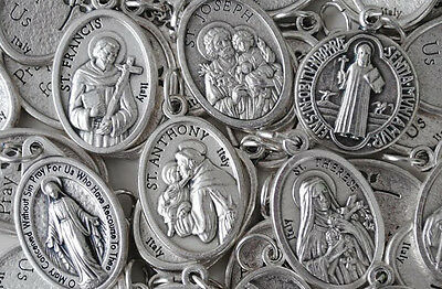 Bulk Religious Medal Variety Pack- 100 qty - SILVER PLATED Italian Made