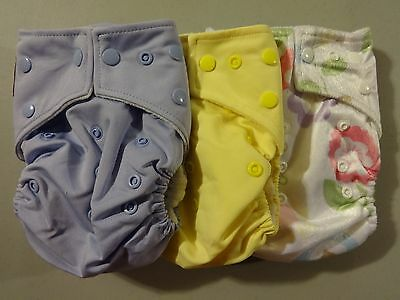 Overstock Sampler: Lot of 3 Kawaii One Size Pocket Diapers, Shells Only