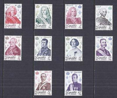 x4401 A Small Collection of Spain  Early & Modern Umm 1978 sg2544/54