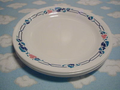 CORELLE/CORNING=INTRIGUE BREAD & BUTTER PLATES=SET OF FOUR (4)