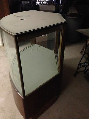 Antique Curved Glass Store Showcase Display Case Staten Island Pick Up