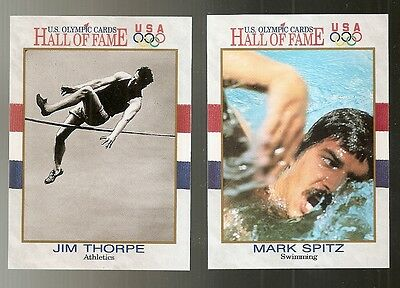 1991 Impel USA Olympic Hall of Fame Cards Lot of 20 with Jim Thorpe Mark Spitz