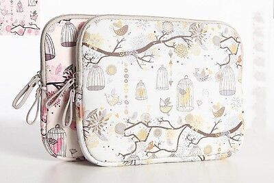 14 inch yellow birds Laptop sleeve tablet bag  notebook case free shipping