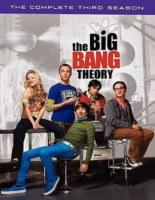 The Big Bang Theory: The Complete Third Season (DVD, 2010, 3-Disc S New & Sealed