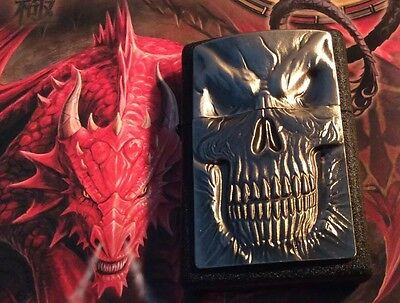 Original ZIPPO Shadow MASTER RARE COLLECTABLE HEAVY PLATED LIGHTER