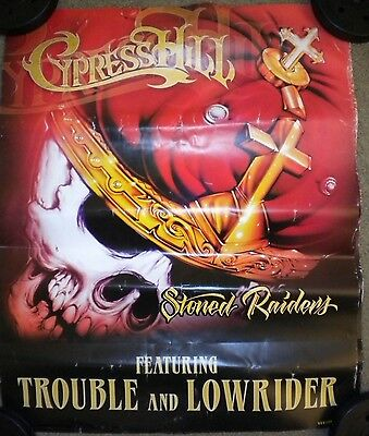 CYPRESS HILL STONED RAIDERS POSTER DOUBLE-SIDED 30X24 SUPER RARE ✔☆SKULL☆✔ 420