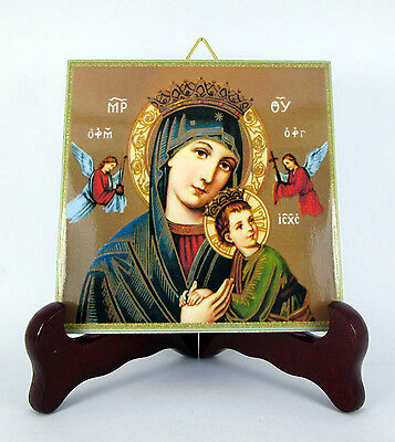 Our Lady of Perpetual Help Rome Ceramic Tile HQ Made in Italy St. Holy Art M1 X