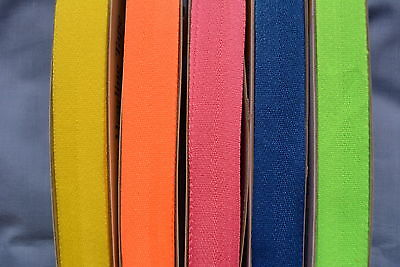 25mm Fluro Polyester Heading Tape - Multiple Colours (x 2 metres)