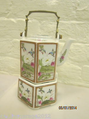 Vintage Andrea by Sadek Tea Pot with warming stand