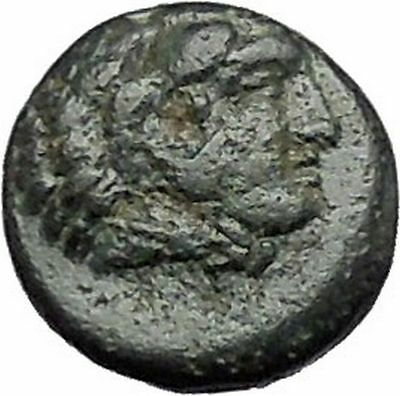 PERGAMON in MYSIA 310BC Hecules Athena Authentic Ancient Greek Coin i48675
