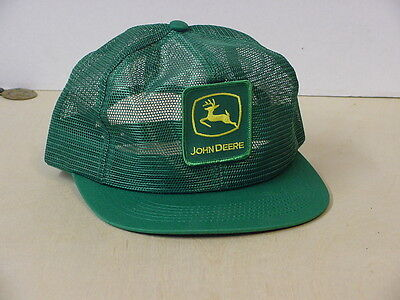 John Deere Green Adult Cap, All Mesh, With Patch, New