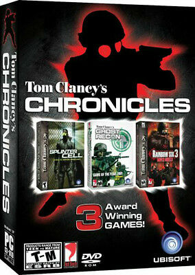 "Tom Clancy""s Chronicles (Splinter Cell Ghost Recon Rainbow Six 3) PC NEW"