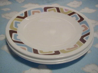 CORELLE/CORNING=SQUARED BREAD/BUTTER PLATES=SET OF FOUR (4)