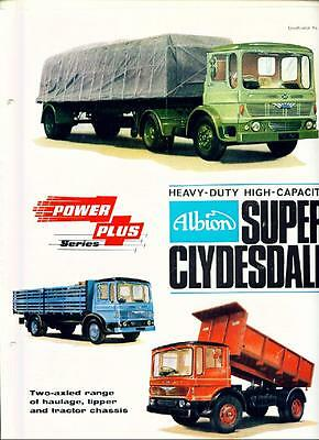 Albion Super Clydesdale  Truck  Lorry Sales Brochure 1964