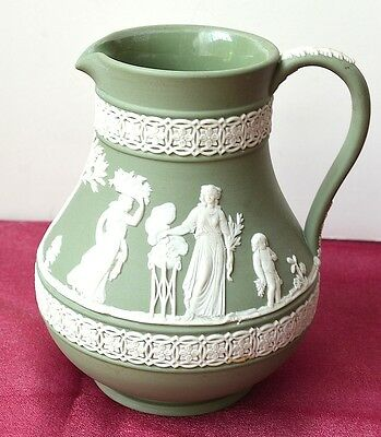 "Wedgwood Pitcher Jasperware Made in England  5"" Tall"