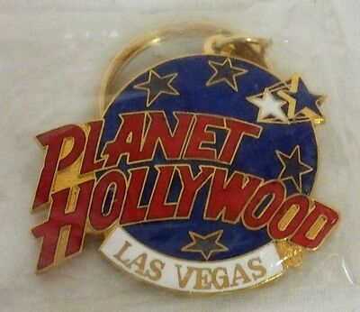 "PLANET HOLLYWOOD ""LAS VEGAS"" COLLECTOR'S LOGO GOLD KEY CHAIN-NEW IN PACKAGE-BUY!"